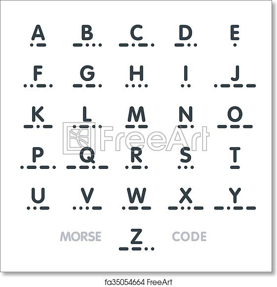 Code For Letters Of The Alphabet.Free Art Print Of Morse Code
