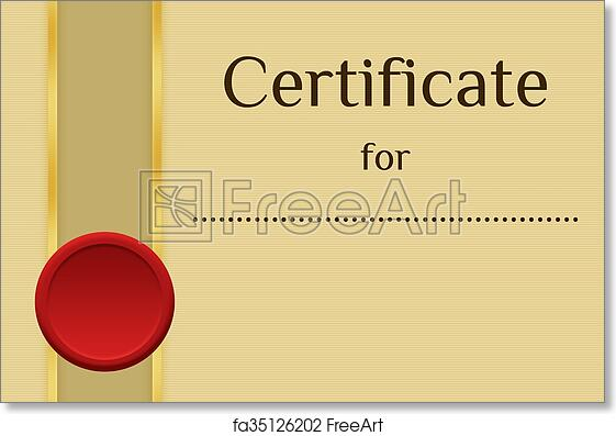 Free Art Print Of Blank Certificate Background  Freeart  Fa