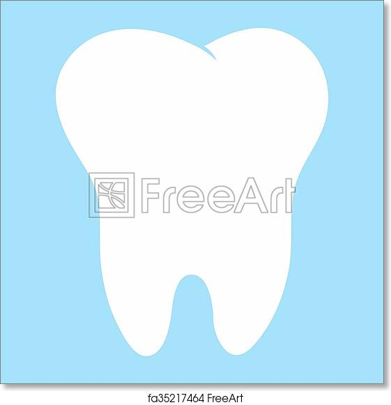 photo regarding Tooth Fairy Card Printable known as Totally free artwork print of Cartoon enamel, white upon a blue historical past, enamel vector icon case in point, to start with enamel, dental office environment brand