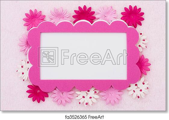 Free art print of pink flower border a pink flowers making a border free art print of pink flower border mightylinksfo