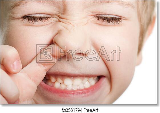 Free Art Print Of Picking Nose