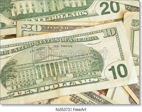photograph about Printable 20 Dollar Bill named Absolutely free artwork print of 10 Greenback Monthly bill