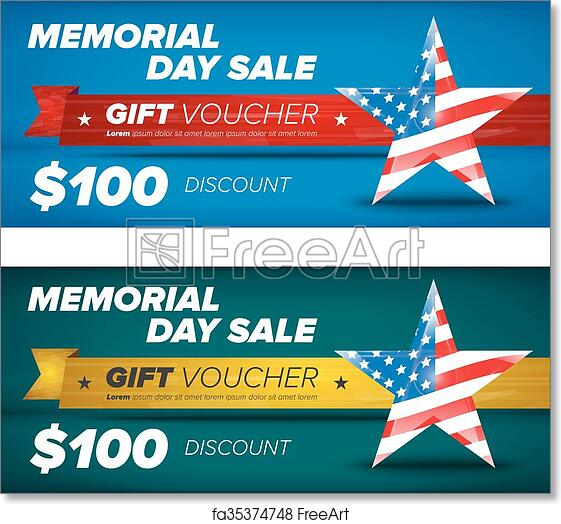 picture relating to Closed Memorial Day Sign Printable called Free of charge artwork print of Reward voucher style, Memorial working day sale