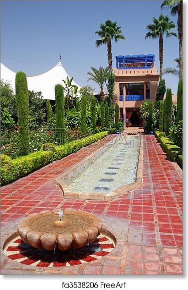 Free Art Print Of Moroccan Garden Beautiful Moorish Garden On The
