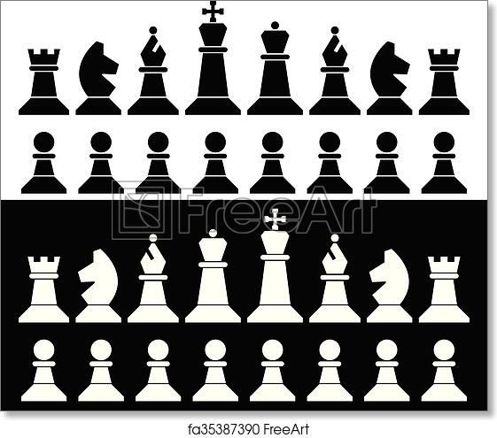 graphic regarding Printable Chess Pieces titled Cost-free artwork print of Vector established of chess parts icons
