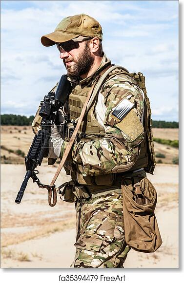 Free art print of US Army Special Forces Group soldier