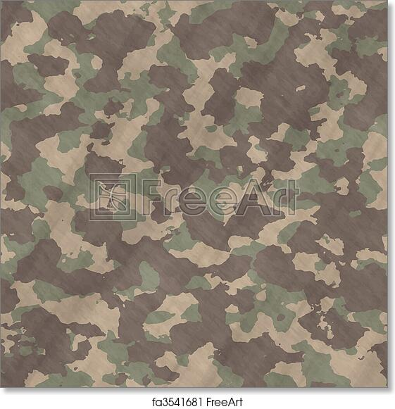 Free Art Print Of Camouflage Material Background Texture