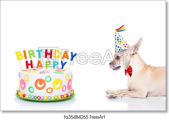 Free Art Print Of Happy Birthday Dog