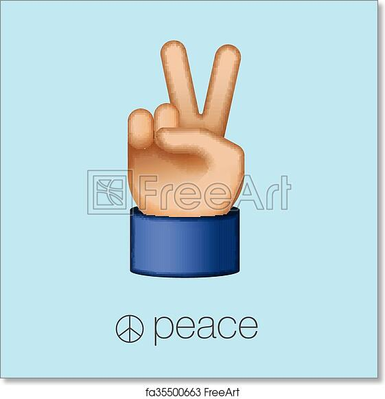 Free Art Print Of Peace Sign Hand Showing Two Fingers Peace Sign