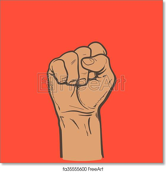 Free Art Print Of Fist As A Symbol Of Good Luck Strength And