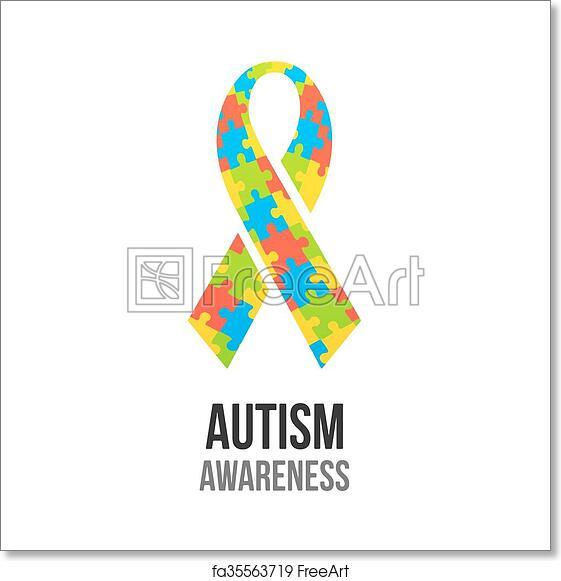Free Art Print Of Autism Awareness Ribbon