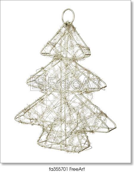 Wire Christmas Tree.Free Art Print Of Wire Christmas Tree