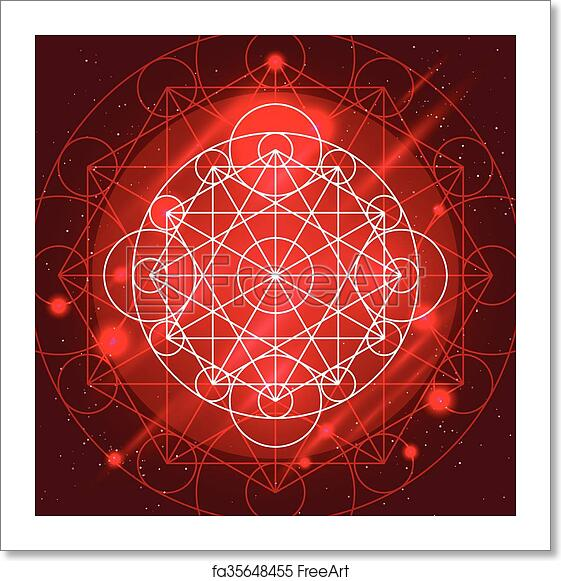 free art print of vector magic geometry sign magic geometry sign