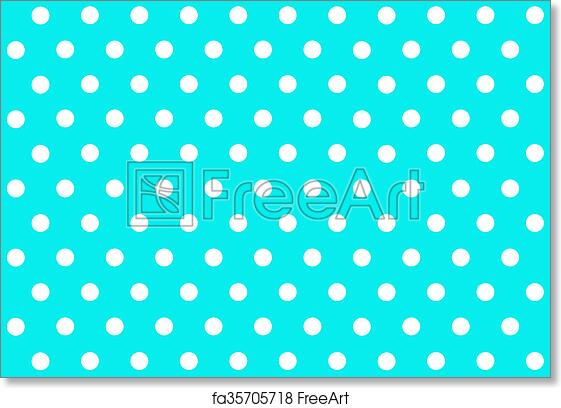 Free Art Print Of Polka Dot Background Blue Polka Dot Background