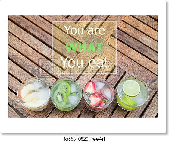 Free Art Print Of You Are What You Eat Quote Design Poster You Are