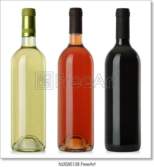 Red Wine Bottle No Label