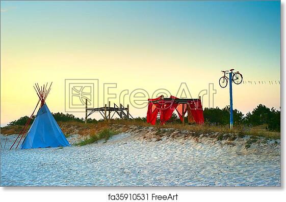 Free art print of camping hippie hippie style camping for Camping a couture 49