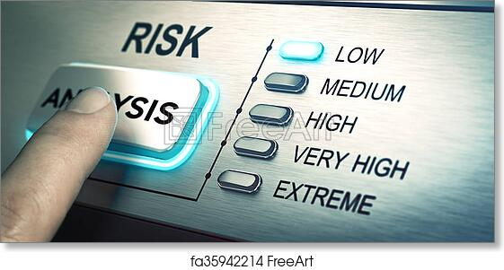 Risk Ysis | Free Art Print Of Risks Analyze Low Risk Man Finger About To