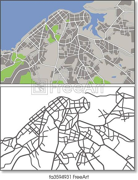 photograph about Printable Map of Havana named Free of charge artwork print of Havana
