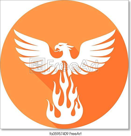Free Art Print Of Phoenix Bird Flat Icon Freeart Fa35957409