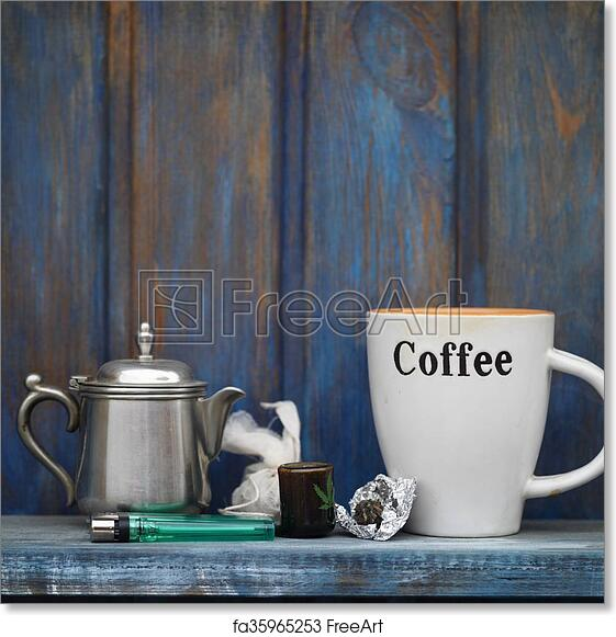 Of Coffee Art And Marijuana Free Print eWQrxBodC
