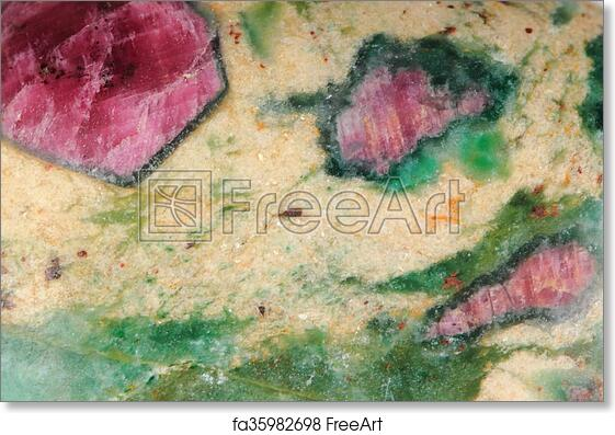 Free Art Print Of Ruby Mineral Texture