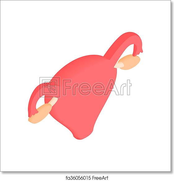 Free art print of Uterus and ovaries isometric 3d icon. Uterus and ...