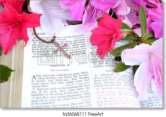 Free art print of easter scripture and cross with bright pink free art print of easter scripture and cross with bright pink flowers mightylinksfo