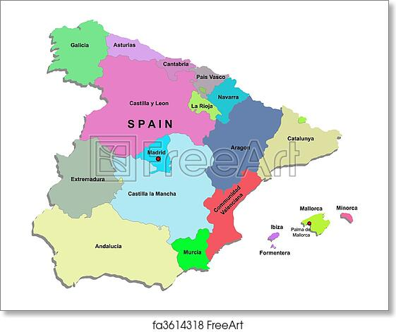 Free Printable Map Of Spain.Printable Map Of Spain