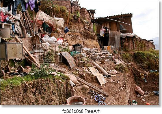 Free Art Print Of Hut In Slums In Cuzco In Peru Freeart Fa3616068