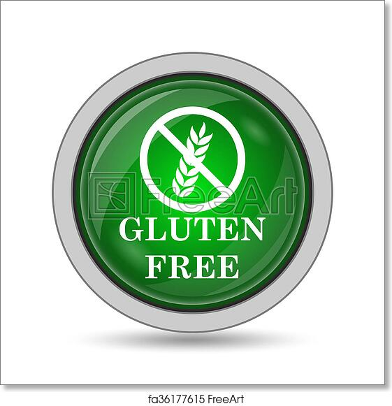 Free art print of Gluten free icon  Gluten free icon  Internet