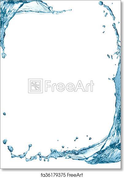 Free art print of Water Splash Frame. Nice frame made from splashing ...