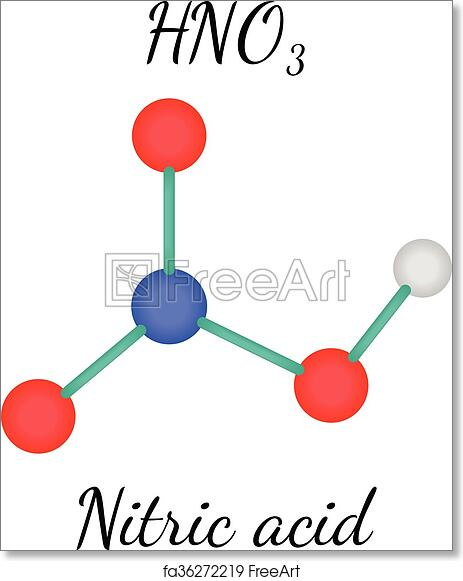 Free Art Print Of Hno3 Nitric Acid Molecule Hno3 Nitric Acid 3d