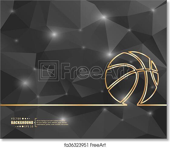 Free Art Print Of Creative Vector Basketball Art Illustration
