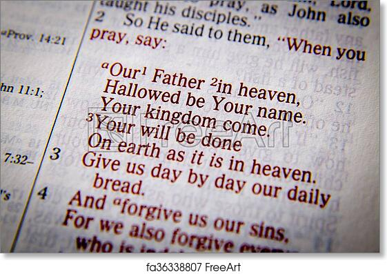 picture regarding The Lord's Prayer Printable named Cost-free artwork print of The Lords Prayer - Our Dad inside of heaven