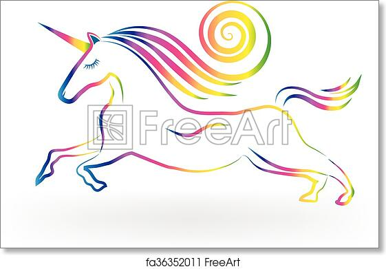 Free Art Print Of Unicorn Tattoo Rainbow Logo