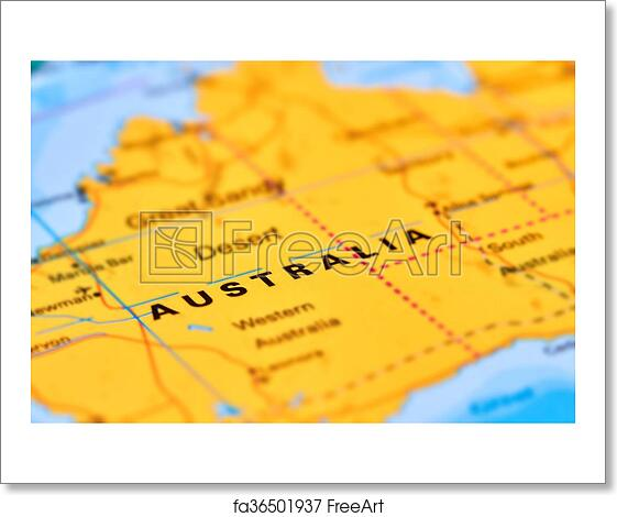 Free art print of Australia on the Map. Australia Continent and ...