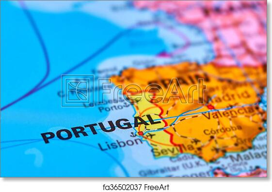 World Map Iberian Peninsula.Free Art Print Of Portugal On The Map Portugal On The Iberian