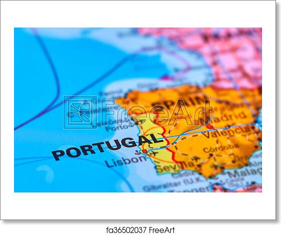Free Art Print Of Portugal On The Map Portugal On The Iberian