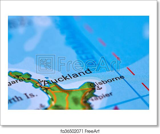 Free art print of Auckland in New Zealand on the Map. Auckland City ...