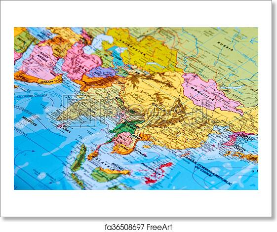 Free art print of Asia on the Map. Asia Continent on the World Map ...