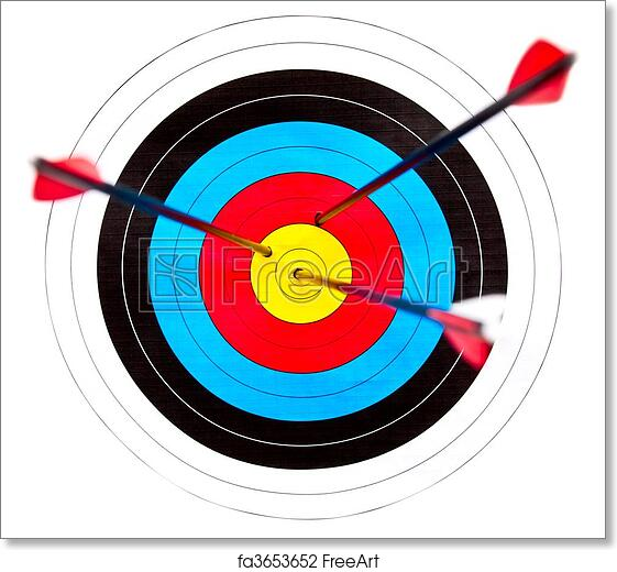 photo about Printable Archery Targets titled Absolutely free artwork print of Concentration archery