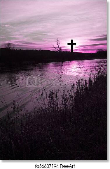 Free Art Print Of The Cross Of Jesus Christ And Beautiful Clouds