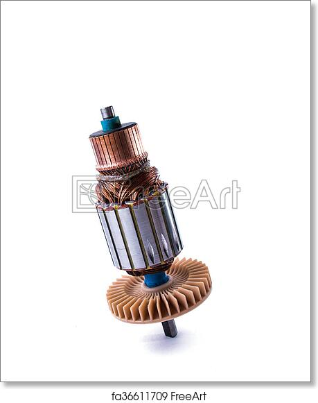 Free art print of Copper Coils inside Electric Motor