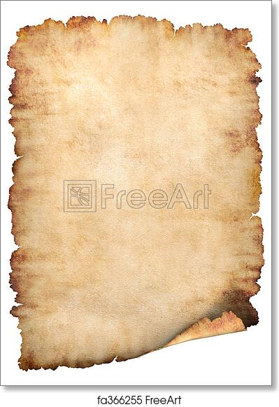 Free art print of Parchment paper background. Old rough ...
