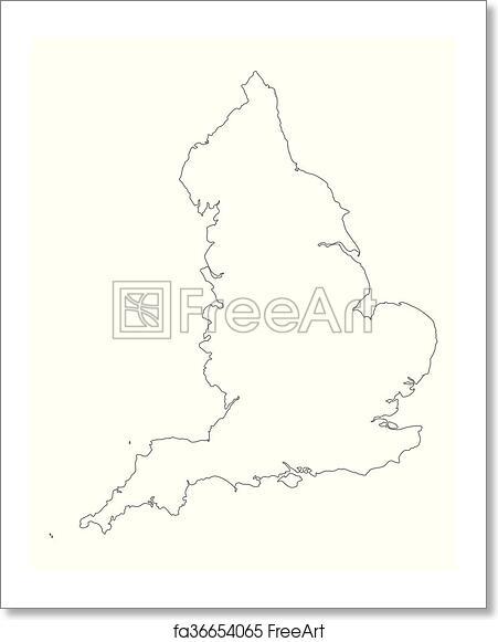 Free art print of Map of England | FreeArt | fa36654065 Printable Maps Of England on
