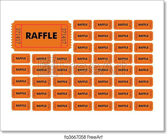Free Art Print Of Raffle Tickets Illustration Of Different Numbered Raffle Tickets Freeart Fa3667058