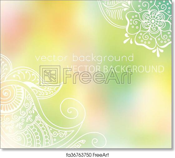 Free Art Print Of Abstract Vector Pattern Of A Tattoo Henna Vector