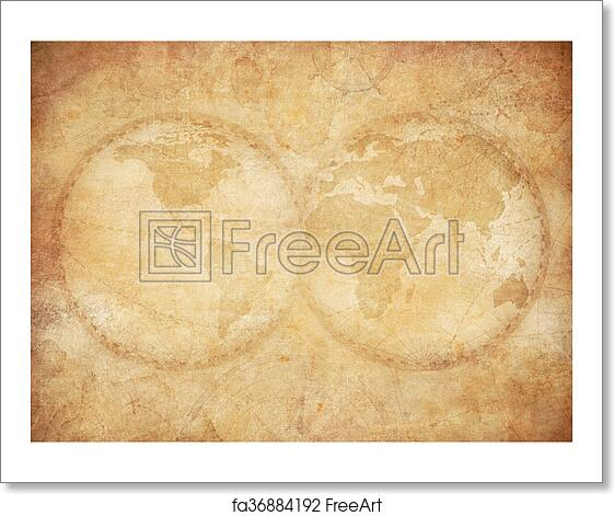 Free art print of old vintage world map background old world map free art print of old vintage world map background gumiabroncs Gallery