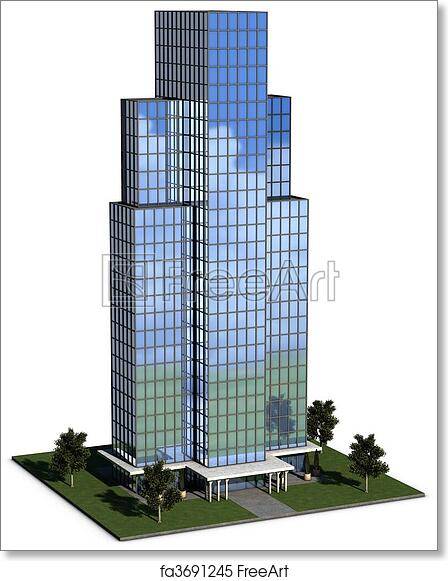 Glass exterior modern office Building Exterior Free Art Print Of Modern Hirise Corporate Office Building Modern Hirise Corporate Office Building With Glass Exterior Over White Background Freeart Freeart Free Art Print Of Modern Hirise Corporate Office Building Modern